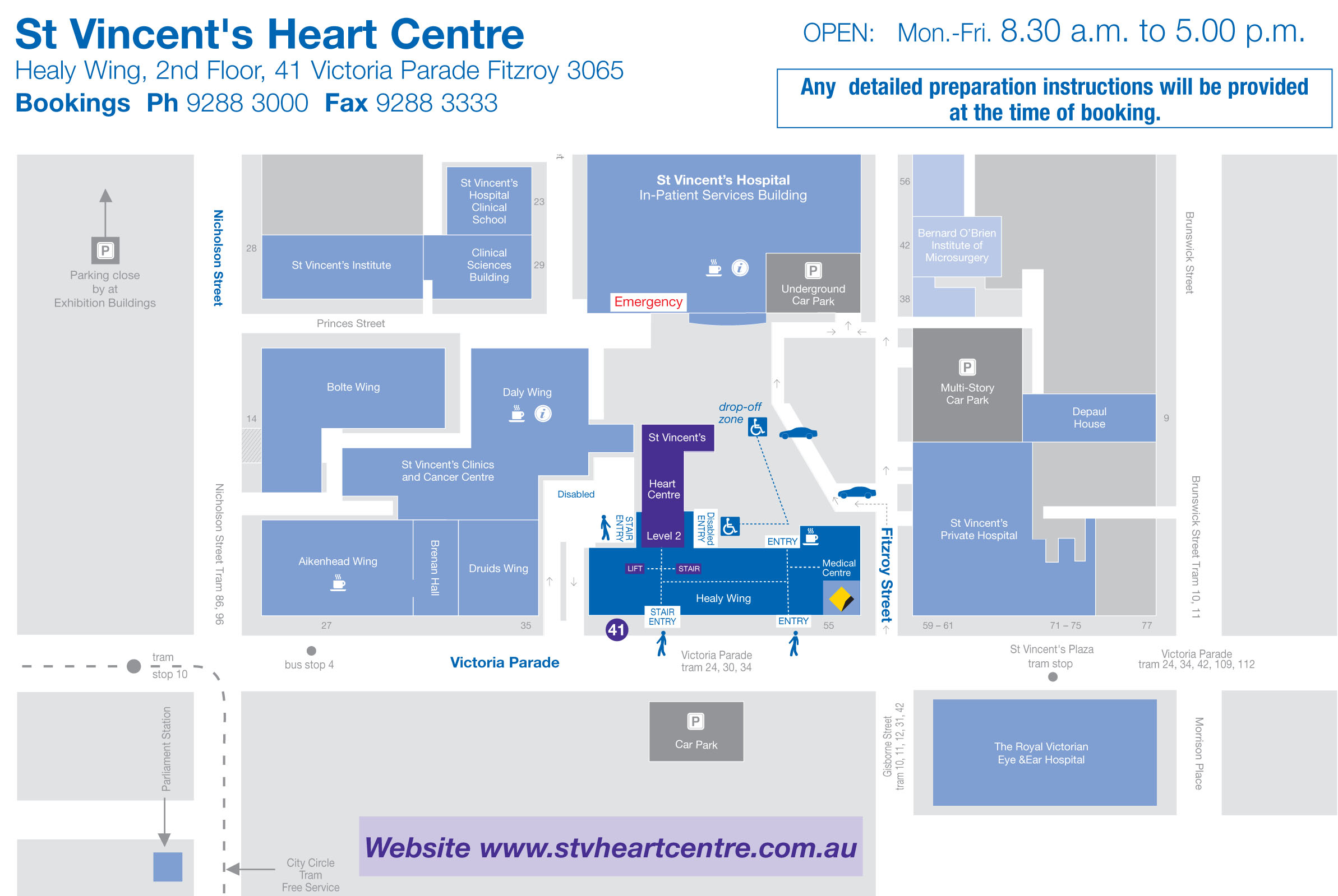 SV Heart Centre Referral A5 Map
